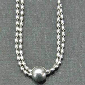 Jewelry - Double Rice Bead Sterling Necklace
